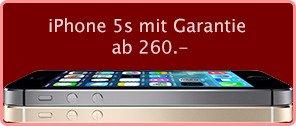 iphone 5s mit garantie ab chf 260!