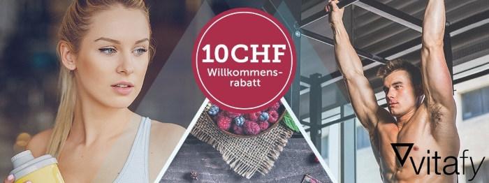 Vitafy CHF 10.- Willkommensrabatt
