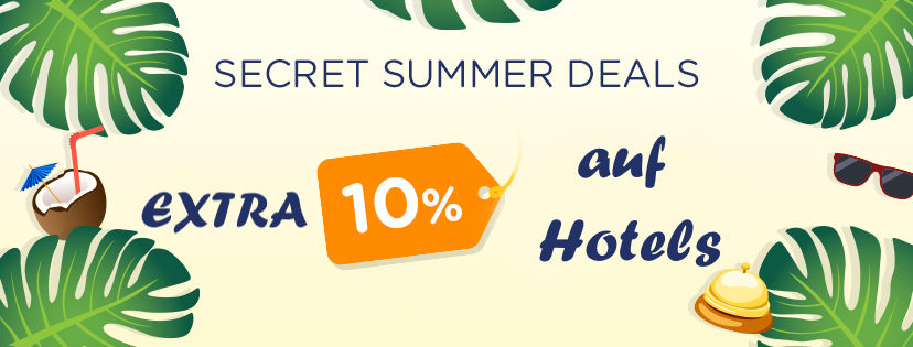 Extra 10% auf Hotels bei Amoma.com