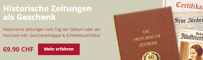 Historische Zeitungen bei Historia.ch