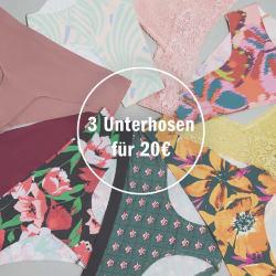3 Unterhosen für 20€