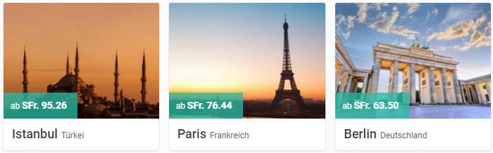 Istanbul, Paris und Berlin besuchen mit kiwi.com