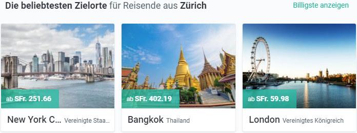 New York, Bangkok und London besuchen mit kiwi.com