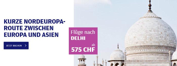 Finnair Flüge nach Delhi