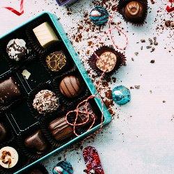 Schokolade zum Valentinstag