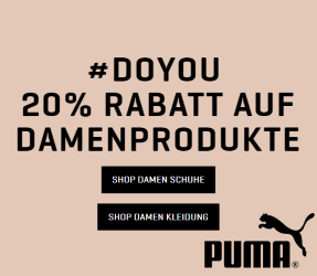 20% Rabatt auf Damenprodukte bei Puma