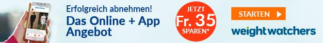 Weight Watchers Online + App Angebot Fr. 35.- sparen