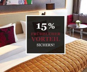 15% Frühbucher Vorteil sichern!