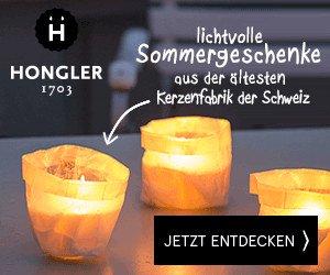 Hongler Kerzen - lichvolle Sommergeschenke aus der ältesten Kerzenfabrik der Schweiz