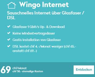 Wingo Internet für nur CHF 69.-