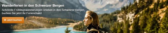 Wanderferien in der Schweizer Bergen mit e-domizil