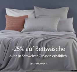 25% Rabatt auf Bettwäsche bei Urbanara