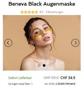 Beneva Black Augenmaske reduziert im Sale