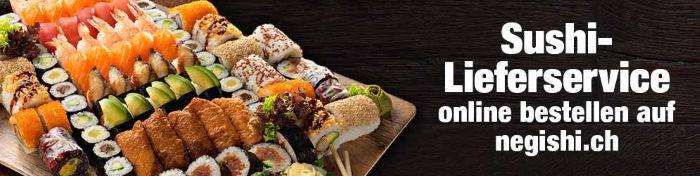 Sushi Lieverservice online bestellen auf negishi.ch